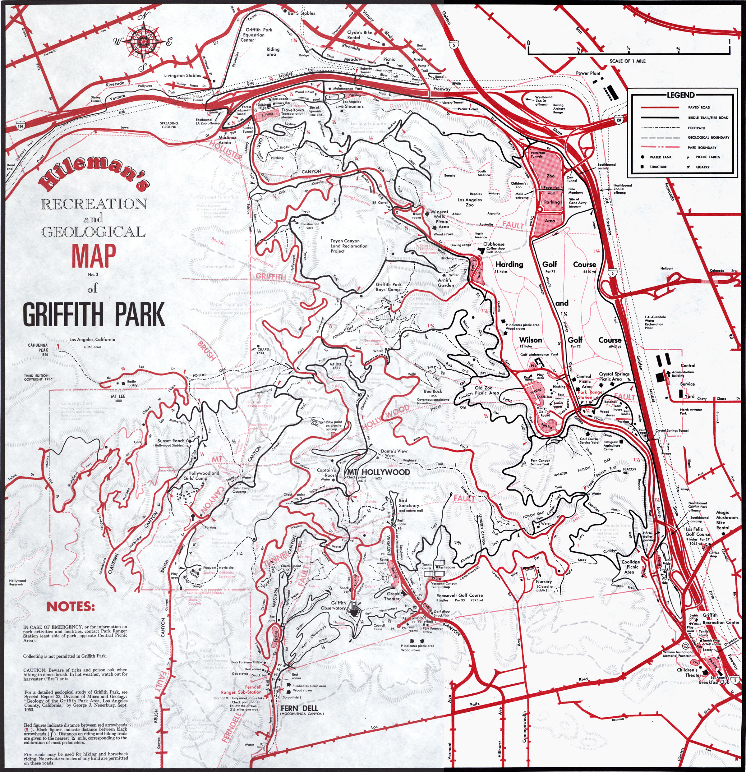 dan s hiking pages griffith park maps
