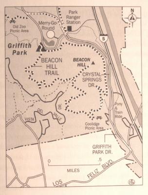 Griffith Park Los Angeles Map.Dan S Hiking Pages Griffith Park Maps