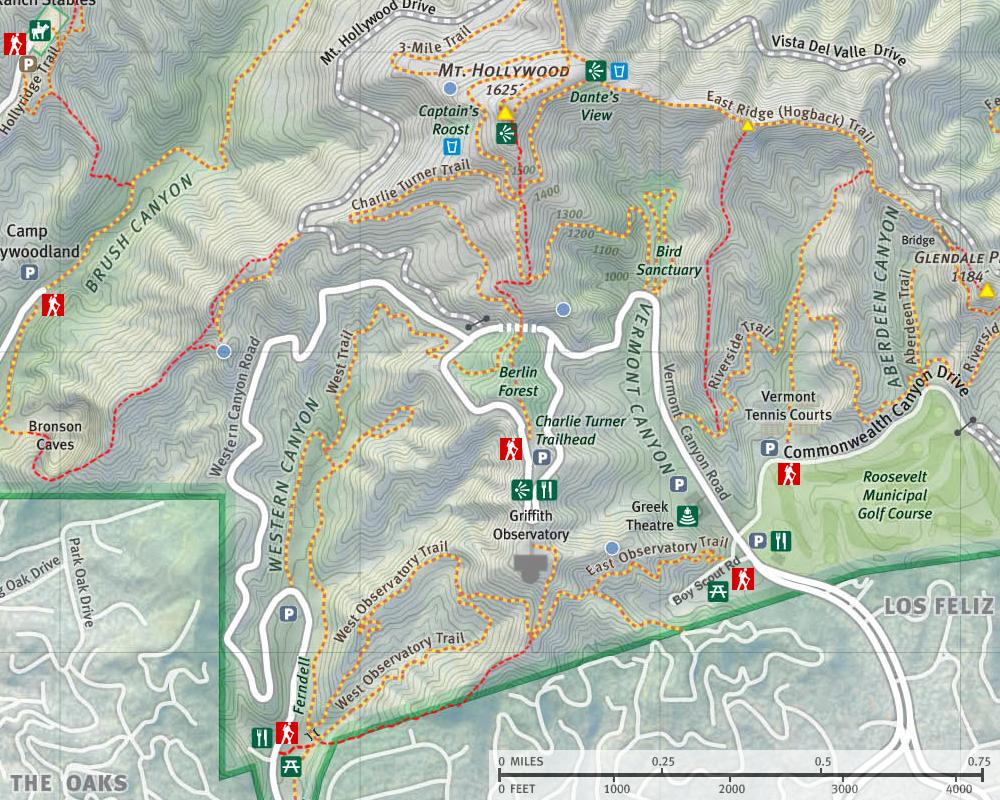Dans Hiking Pages Griffith Park Maps