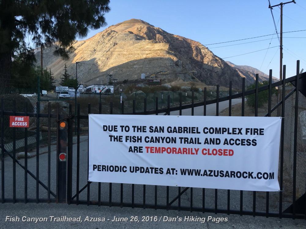 Azusa Canyon Fire Map.Dan S Hiking Pages Fish Canyon Falls