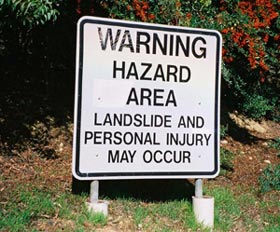 Warning Hazard Area La...